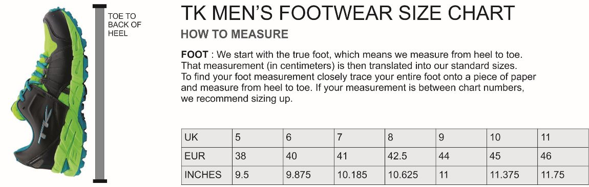 a2e1e067af338b Men s Footwear Size Guide
